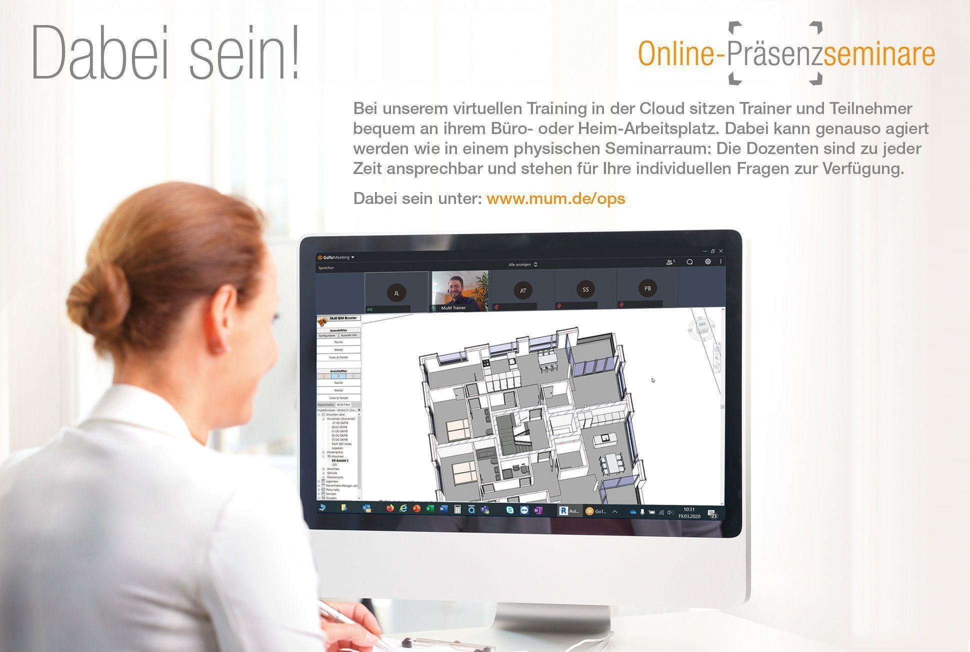 Online-Präsenzseminare:<br> jetzt neu bei MuM!